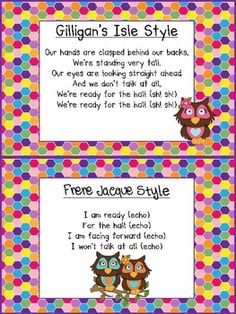 FREE SONGS TO USE FOR LINING UP - TeachersPayTeachers.com
