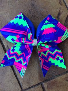 Hey, I found this really awesome Etsy listing at https://www.etsy.com/listing/196837727/aztec-cheer-bow