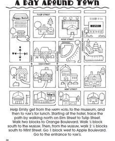 Welcome to Dover Publications Teaching Map Skills, Teaching Maps, Social Studies Worksheets, Teaching Social Studies, Kindergarten Social Studies, Map Activities, English Activities, Therapy Activities, English Teaching Materials