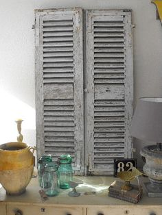 French Provencal louvredshutters