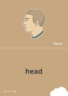 Head #CardFly #flience #human #english #education #flashcard #language