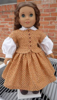 18 Doll Clothes 1800's Civil War Style Gown Fits by Designed4Dolls, $29.95