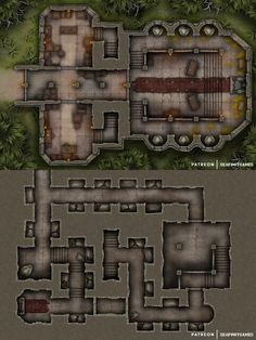 Dragon Lord's Temple Multi-Level Fantasy City Map, Fantasy Castle, Dungeons And Dragons Homebrew, D&d Dungeons And Dragons, Pathfinder Maps, Building Map, Rpg Map, Dungeon Master's Guide, Dungeon Maps