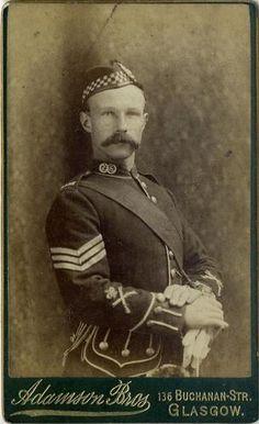 CDV: Sergeant, Argyll & Sutherland Highlanders by Adamson, Glasgow. Zulu War era