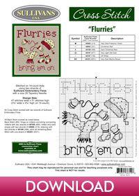 Flurries, designed by Sue Hillis Designs, from Sullivans' Winter Collection.