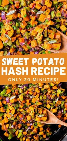 Make this easy Sweet Potato Hash to create the perfect side dish for breakfast or dinner. This skillet recipe comes together in two easy steps in less than 30 minutes! Side Dishes For Chicken, Pasta Side Dishes, Pasta Sides, Summer Side Dishes, Potato Side Dishes, Easy Vegetable Side Dishes, Healthy Side Dishes, Side Dishes Easy, Easy Family Meals