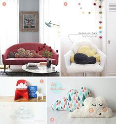 Roundup: 25+ DIY Cloud Decor Projects » Curbly | DIY Design Community Diy Kids Furniture, Furniture Projects, Diy Projects, My Home Design, Diy Design, Diy Cloud Light, Le Cloud, Cloud Decoration, Diy Wall Art