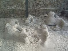 Plaster reconstructions of the victims of Pompeii