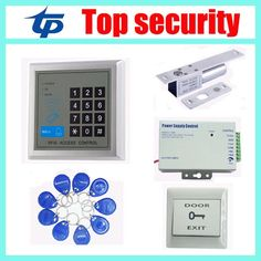 23.75$  Buy here - 125KHZ RFID card access control kit ID card access control system,power supply,electric lock,exit button,10pcs RFID key  #magazineonline
