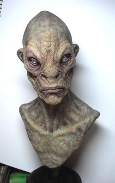 Silicone alien bust. by BOULARIS on deviantART