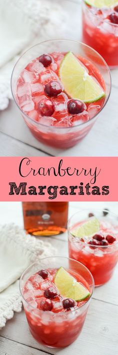 Cranberry Margaritas - a holiday staple! Using fresh cranberries! These are so delicious and really easy!