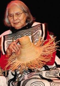 Delores Churchill with a partially woven basketry hat Native American Baskets, Native American Photos, American Indian Art, Native American Tribes, Native American History, Native Americans, Arte Haida, Haida Art, Native American Genocide