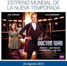Cinesa Marineda City es uno de los cines elegidos para emitir el primer capítulo de la nueva temporada de #DoctorWho. La cita será el sábado 23 de agosto a las 20.45h. ¡Vive el estreno mundial y que no te lo cuenten! Más info: http://www.cinesa.es/Eventos/doctor-who-series-8-episode-1-vose