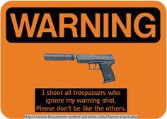 Funny Gun Signs