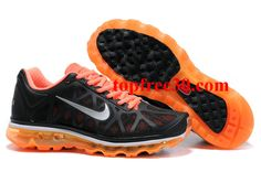 topfree30.com for nikes 50% OFF - Mens Nike Air Max 2011 Black Orange Silver Sneakers