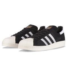 Adidas Originals Superstar 80'S Primeknit Black / White - Adidas Originals The Adidas Classic Superstar 80s gets a lightweight redesign following in the footsteps of Stan Smith and other notable Adidas classics and been given the primeknit treatment.