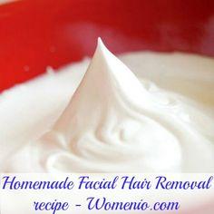 Natural Homemade Facial Hair Removal Recipe - 10 Fantastic Proven Homemade Natural Beauty Recipes