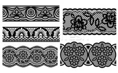 Stock photo: Lace. Decorative seamless patterns. Vector illustration. for a garter belt thigh tattoo