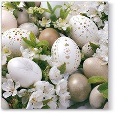 ubrousky-s-kraslicemi Favorite Holiday, Happy Easter, Eggs, Shabby Chic, Retro, Green, Inspiration, Decoration, Dinner Napkins