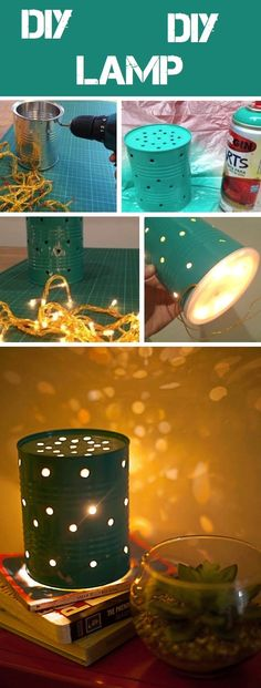 DIY PROJECTCOFFEE CAN LANTERNS