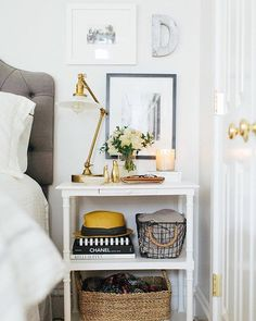 "7,596 Likes, 16 Comments - #LTKhome (@liketoknow.it.home) on Instagram: ""Add a cozy touch to your bedside vignette care of @theeverygirl_'s candlelight and woven textures 
