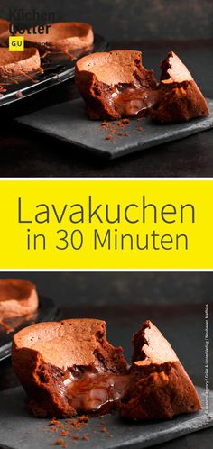 Quick chocolate lava cake- Schneller Schoko-Lava-Kuchen with delicious and liquid core, guaranteed to impress your guests! And the best? He is prepared in under 30 minutes! HERE& THE RECIPE: www. Nutella, Keto Recipes, Cake Recipes, Chocolate Lava, Chocolate Lovers, Chocolate Desserts, Red Velvet Cheesecake, Lava Cakes, Evening Meals