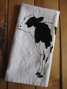 Dairy Cow print organic cotton napkin