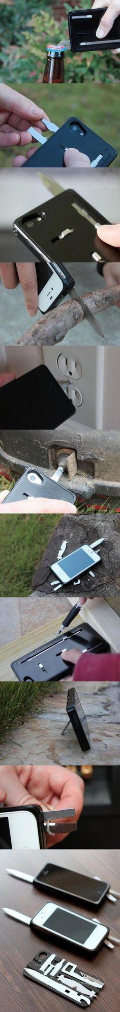 Una navaja suiza en la carcasa de tu teléfono móvil.