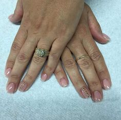 nude nails with gold accent   NAILed It!   Be Exceptional With Your Back to…