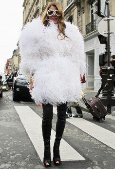 Paris Haute Couture street style photos Anna dello Russo