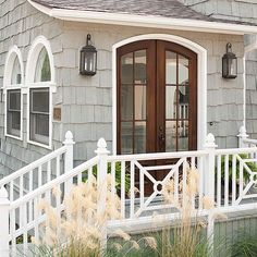 When building a cottage or a cottage-style addition, select doors and windows possessing period profiles and patinas: http://www.bhg.com/home-improvement/door/exterior/cottage-front-doors/?socsrc=bhgpin092614instantlyage&page=12