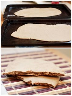 Norwegian flatbread (w/ rye flour).  (Recipe)  Mmm...it IS great with hummus!  Did you know that?  ;o)