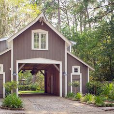 Like the drive through garage idea.  it lead to a stone paved court yard drive way for my 6-car dream garage.