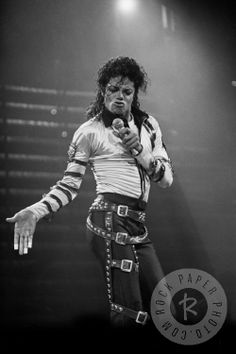 """Michael Jackson by Janet Macoska  Enter a contest to win a rare MJ print from his """"Bad"""" tour here: http://contest.io/c/z58xyii6 www.RockPaperPhoto.com"""