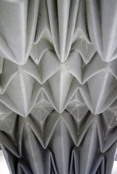3D Textiles Design with printed & folded origami structure - constructed textiles; fabric manipulation // Rachel Philpott