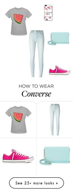 """""""Enjoy summer"""" by polly2003-2003 on Polyvore featuring BLK DNM, Converse and Kate Spade"""