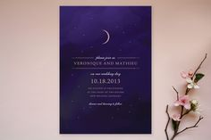 Liked the Star Map theme, but it lacked this richness  Luna Wedding Invitations