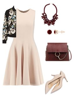 A fashion look from January 2016 featuring pink cocktail dress, collar jacket and low heel shoes. Browse and shop related looks. Low Heel Shoes, Low Heels, Shoes Heels, Fashion Women, Women's Fashion, Pink Cocktail Dress, Needle And Thread, Women's Clothing, Fashion Looks
