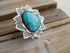 Sterling Silver Rings For Women Turquoise by RadiantJewelStudio