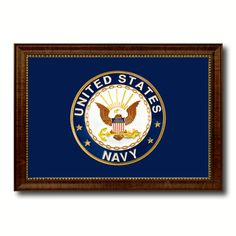US Navy Military Flag Canvas Print, Picture Frame Gifts Home Decor Wall Art