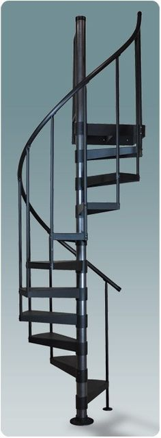Diameter Classic Steel Spiral Stair Kit Uber small for loft e… Salter 3 Ft. Diameter Classic Steel Spiral Stair Kit Uber small for loft entry Spiral Staircase Kits, Small Staircase, Loft Staircase, Staircase Design, Spiral Stairs Design, Staircases, Concrete Stairs, Wooden Stairs, Round Stairs