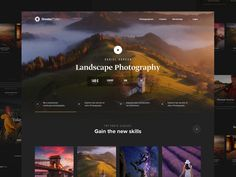 Greaterphoto landing designed by Milan Chudoba. Connect with them on Dribbble; Landscape Photography Lens, Photography Settings, Photography Jobs, Photography Projects, Web Design, Graphic Design Tutorials, Design Ideas, Foto Text, Photography Website Design