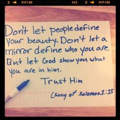 But let God show you what you are...