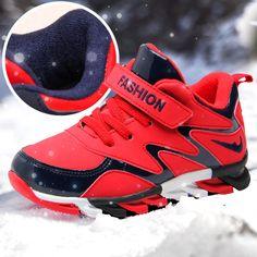 aae3e441 Geométrico Invierno Zapatos de Los Niños Para Los Niños Mantener el Calor  Anti Resbaladizo Zapatos Rojo