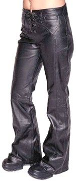 Womens leather pants custom made style LP236