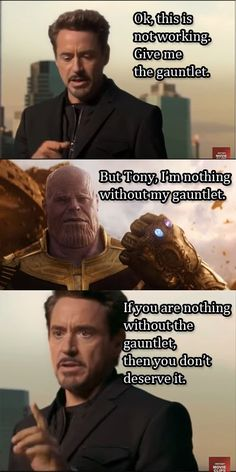 If you are nothing without the gauntlet-Avengers infinity war  #marvel #Avengers #infinitywar #cosplayclass