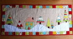 Modern Christmas Table Runner Finished! by Fiona @ Poppy Makes, via Flickr