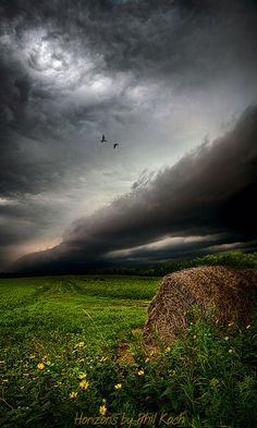Roll Cloud Over Meadow - Wisconsin Phil Koch photographer Where did this treasure come from out of the blue?  See the line of light?