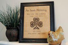 Gingerly Made: Irish Blessing Burlap Wall Art
