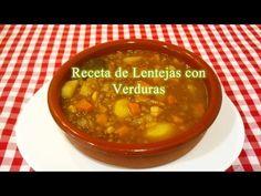Receta de Lentejas con Verduras - YouTube